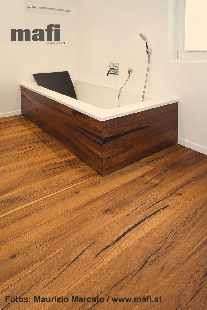 Qualität Und Umwelt Mafi Parkett Tiger Eiche Im Badezimmer